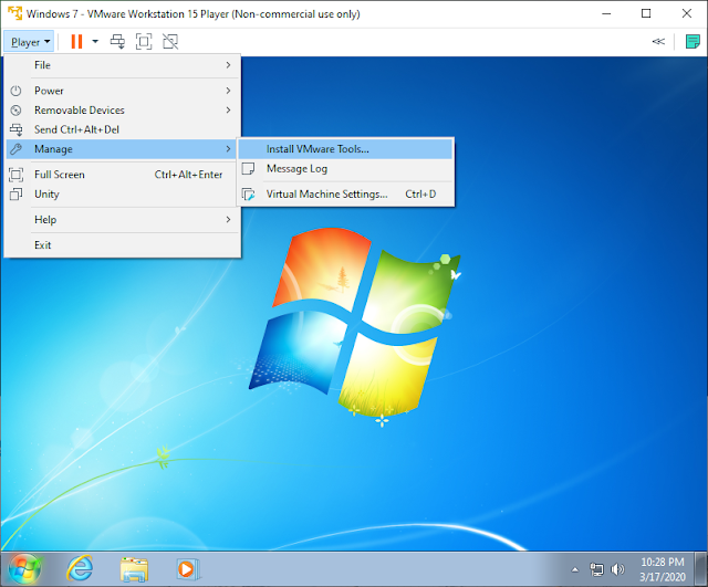 install vmware tools untuk login dual point blank