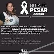 Nota de esclarecimento sobre o falecimento da professora Euzinha de Bom Jardim.