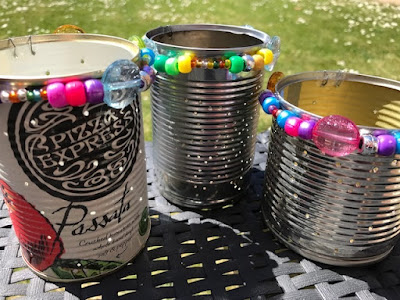 Lanterns made from old tin cans