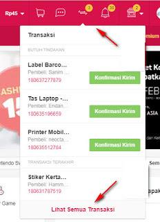 Invoice Penjualan di BukaLapak