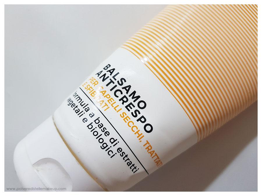 Balsamo anticrespo Gyada Cosmetics capelli secchi