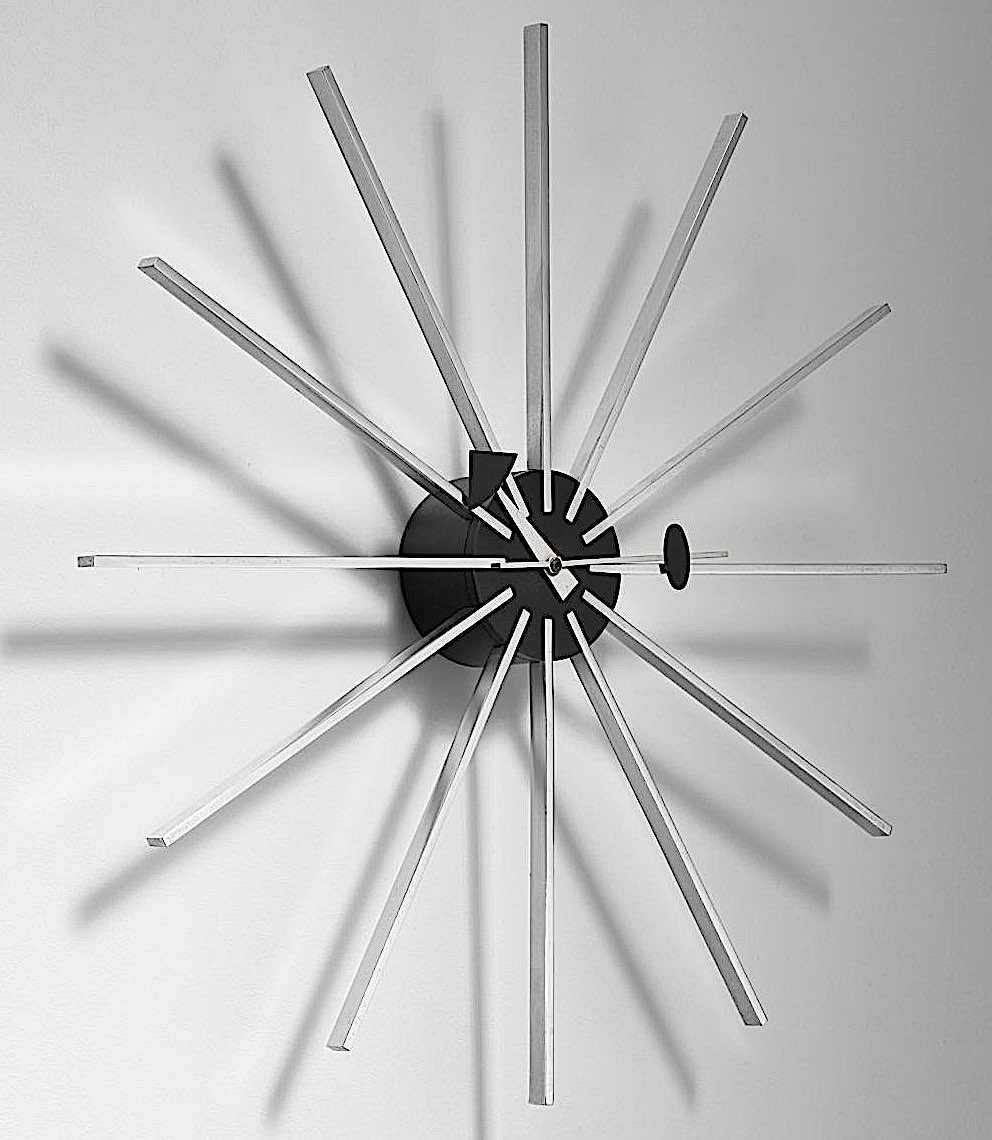 a George Nelson starbust clock