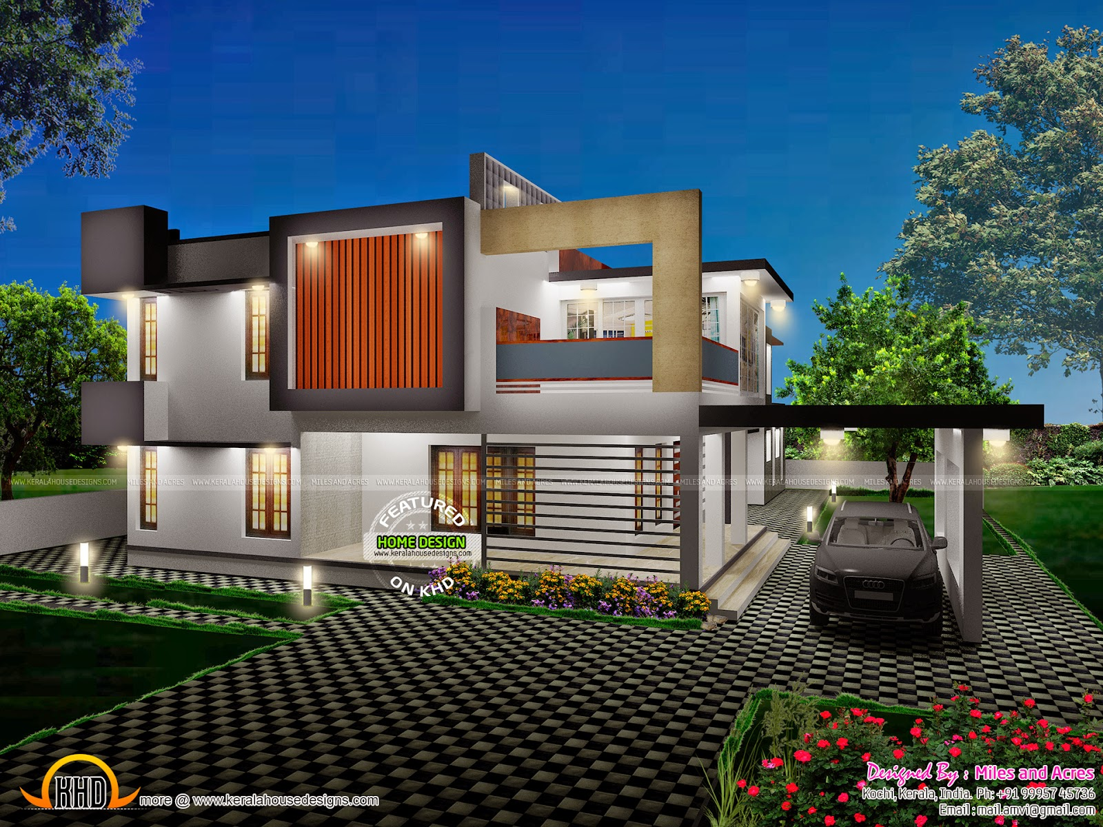 Wonderful House 3D View. See House Plan
