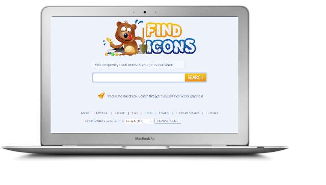 موقع FindIcons للحصول على أيقونات مجانية عالية الجودة