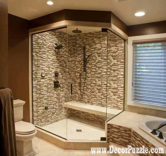 shower tile ideas,shower tile designs, tiling a shower, stone shower tiles