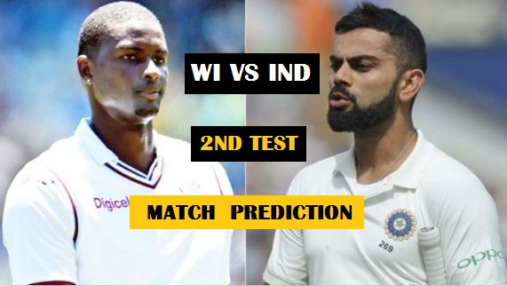 West Indies vs India 2nd Test- Cricket Match Prediction