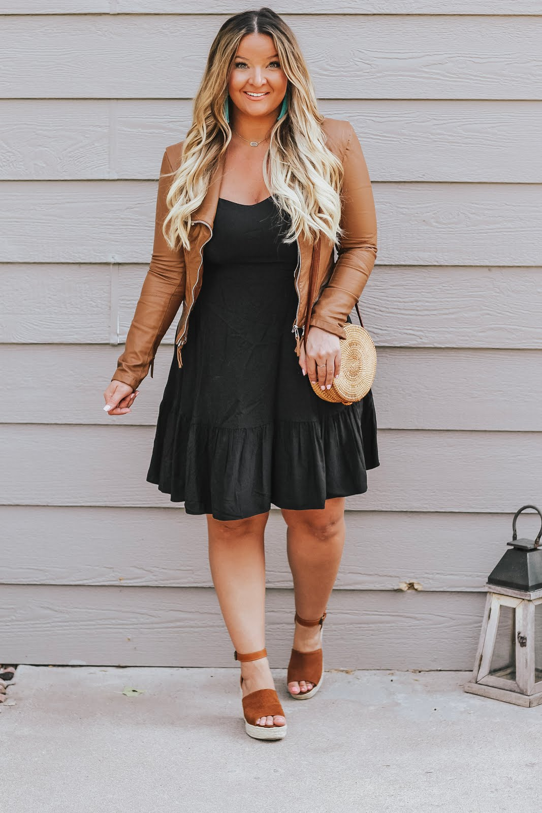 Brown and Black Outfit featured by top Denver fashion blogger, Delayna Denaye