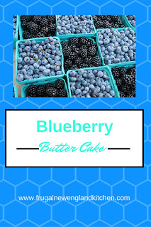 Butter Blueberry Cake Recipe