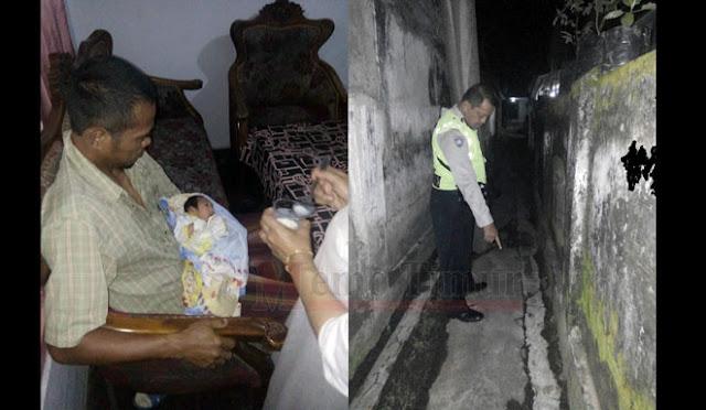 Kondisi bayi saat ditemukan warga