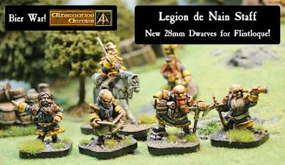 Legion de Nain Staff new Dwarves released for Flintloque