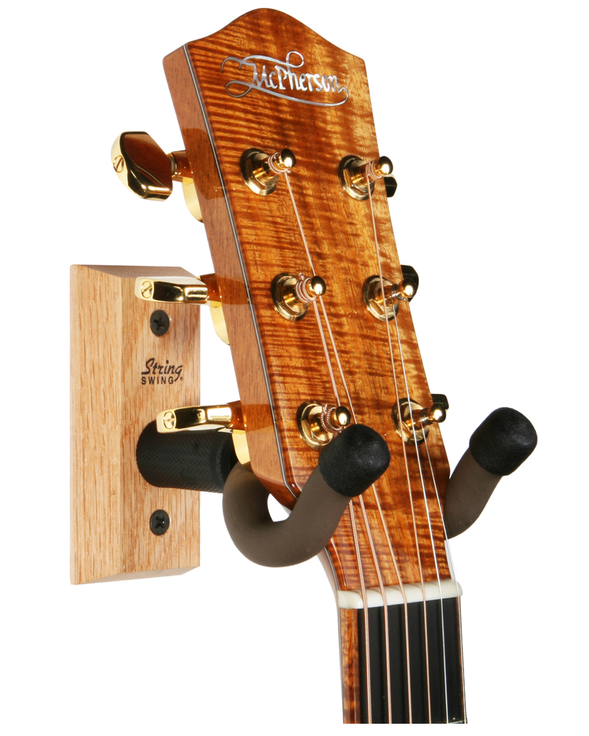 local music gear gear review the string swing hardwood home studio guitar hanger review. Black Bedroom Furniture Sets. Home Design Ideas