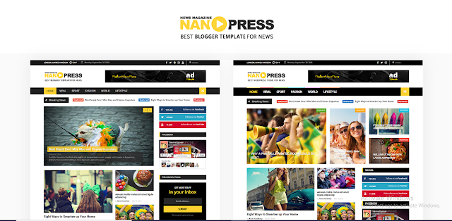 NanoPress Blogger Template