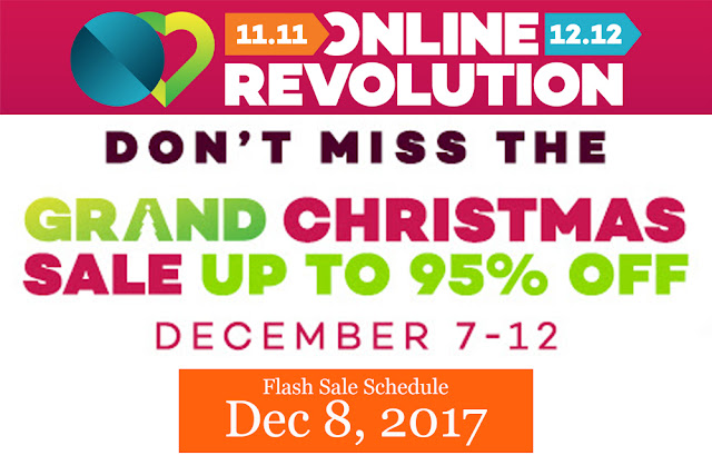 Lazada Online Revolution 2017 - flash sale schedule december 2017