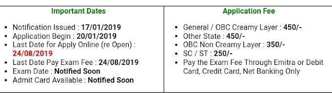 RSMSSB JCA Recruitment Online Form Re Open 2019