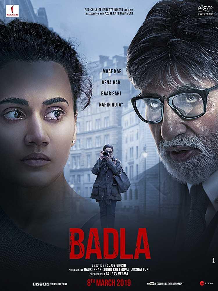 Poster Badla 2019 Hindi HD 720p