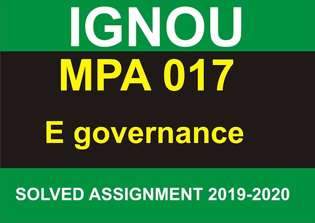 MPA 017 Solved Assignment