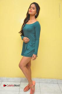 Telugu Actress Prasanthi Stills in Green Short Dress at Swachh Hyderabad Cricket Press Meet  0133.JPG