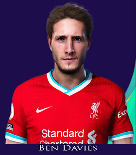 PES 2021 Faces Ben Davies by Rachmad ABs