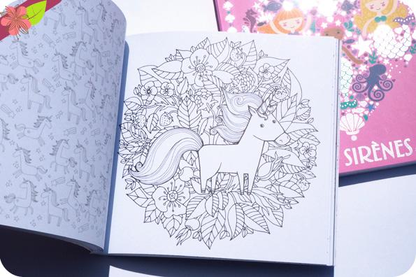 J'adore colorier les licornes et  J'adore colorier les sirènes