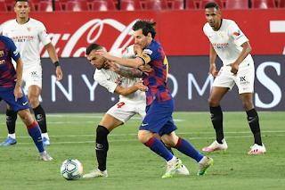 Sevilla stops Lionel Messi  700th career goal