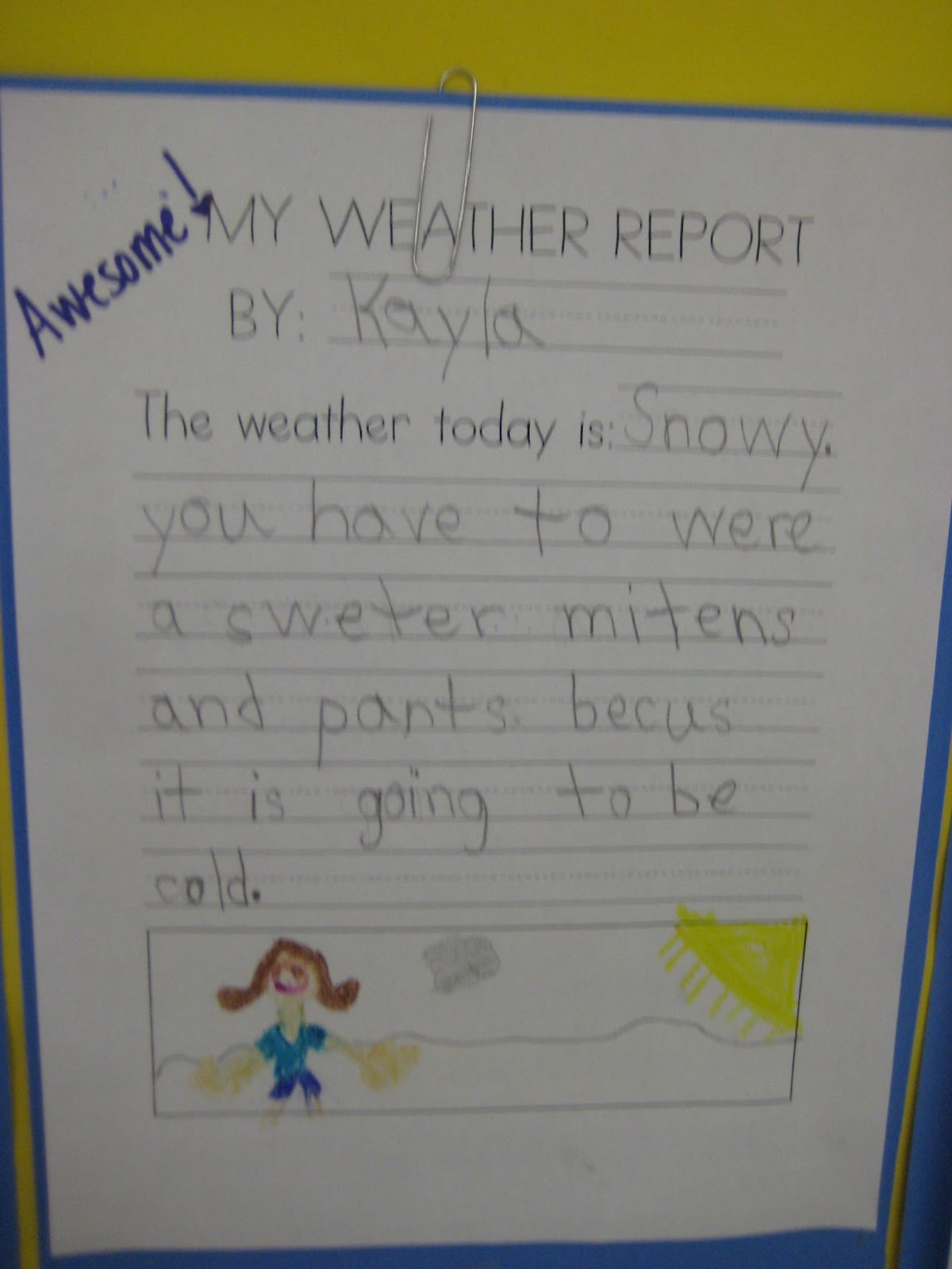 how to write a weather news report