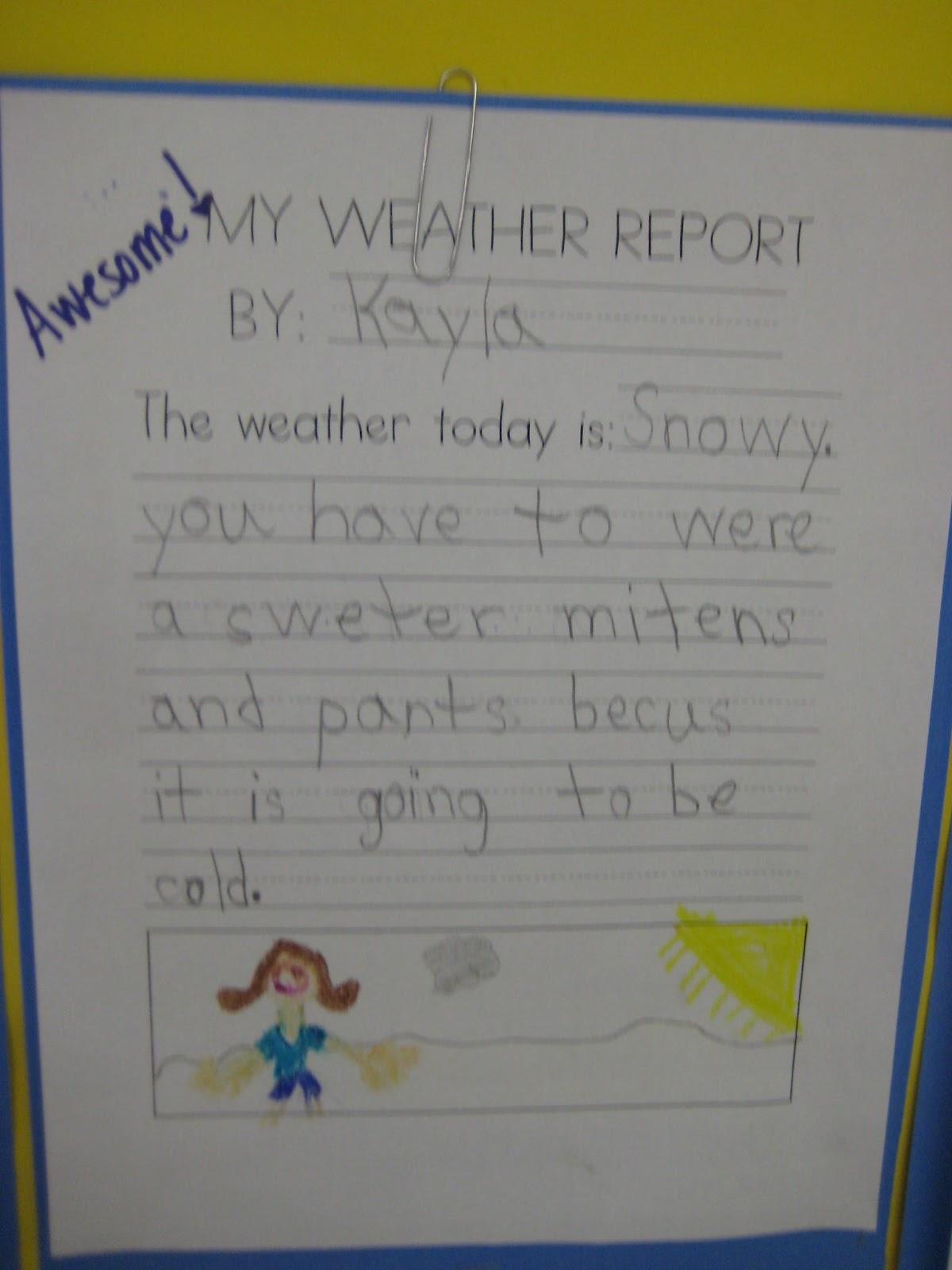 Kindergarten Smiles Weather