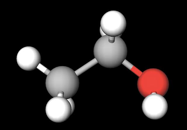 Ethanol Ball and Stick Model
