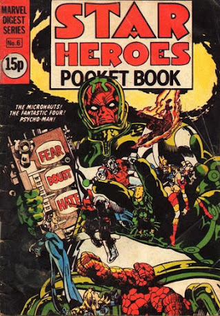 Star Heroes pocket book #6, the Micronauts and Psycho-Man