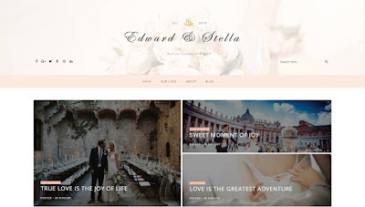 edward stella wedding blogger theme