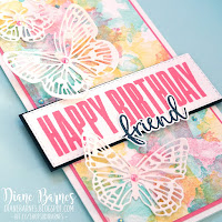 Stampin Up friend birthday card using Biggest Wish - Artistically Inked & Butterfly Brilliance. Card by Di Barnes - colourmehappy - Demonstrator in Sydney Australia