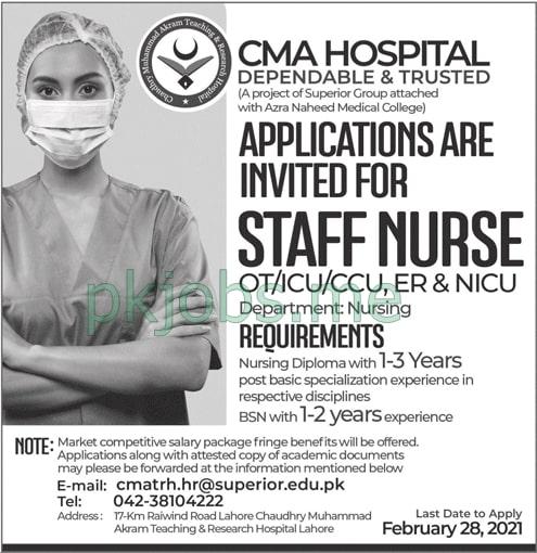 Latest CMA Hospital Management Posts 2021