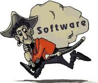 menggunakan software bajakan