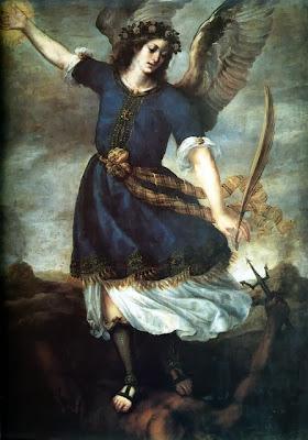 Imagen de San Miguel Arcangel Sometiendo al Demonio