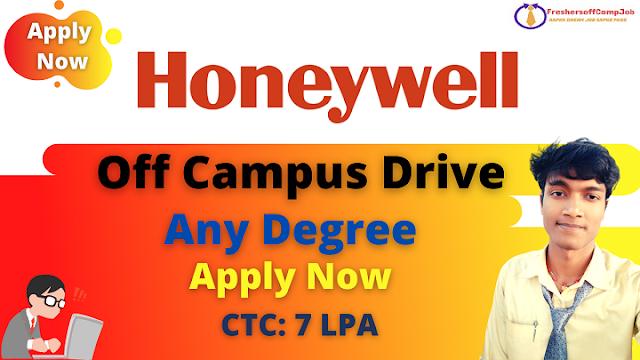 Honeywell Off-Campus Recruitment Drive 2021