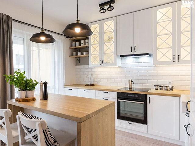 nhà bếp màu trắng