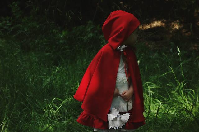 czerwony kapturek sesja zdjęciowa