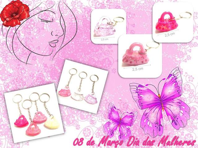 Chaveiro de Mini Bolsinhas Coloridas - Lembrancinha Dia Das Mulheres