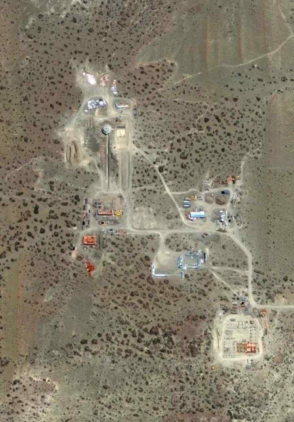 Imagem satelital da estação chinesa na Patagônia. Argentinos acham que tem segundas intenções. E os EUA estão preocupados.