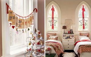 decorar dormitorio en navidad