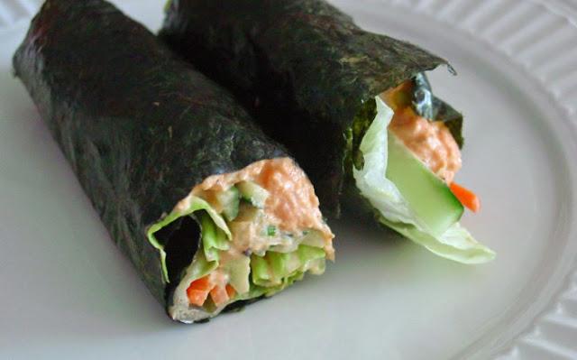 Paleo Tuna Salad Nori Wraps #healthy #lowcarb