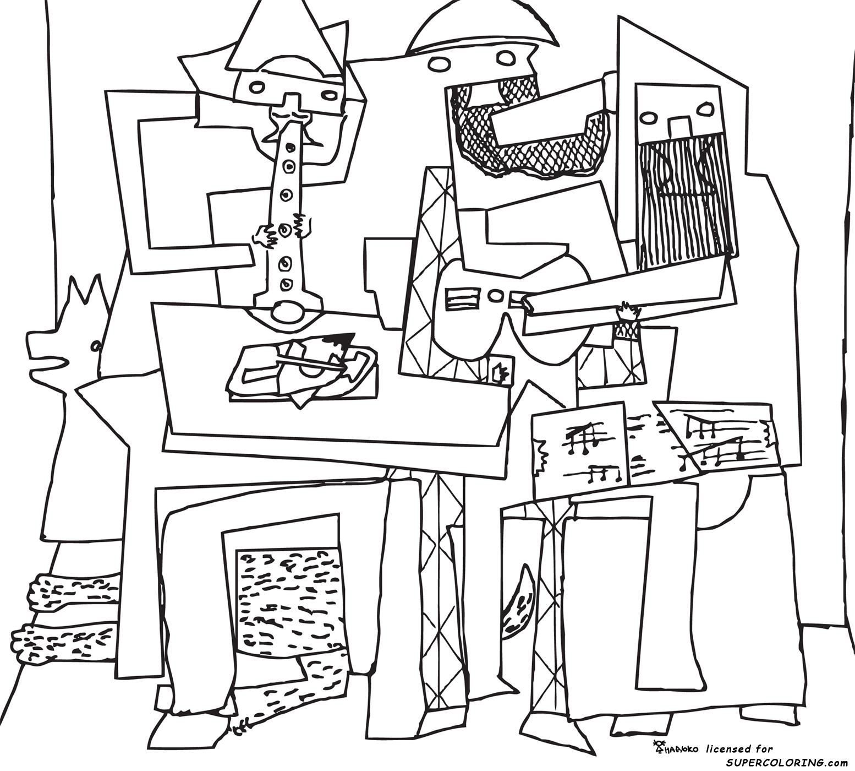 Obras De Pablo Picasso Para Colorir