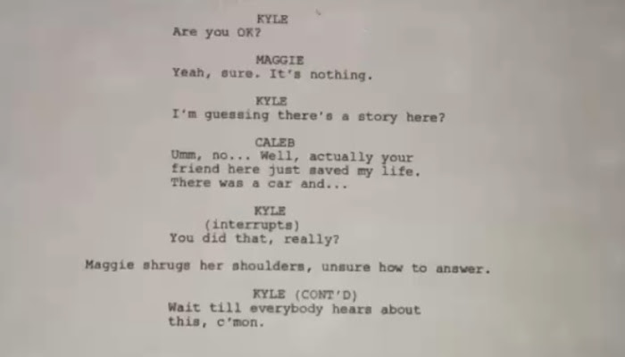 Oh, just a page from the Significance movie script, that's all!!