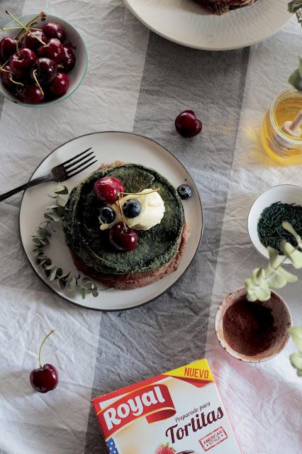 Tortitas arcoiris - Rainbow pancakes -kidsandchic