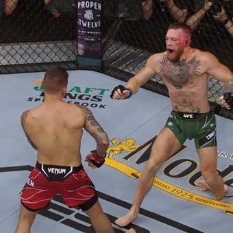 UFC: Conor McGregor sufrió una impactante lesión y debió abandonar ante Dustin Poirier