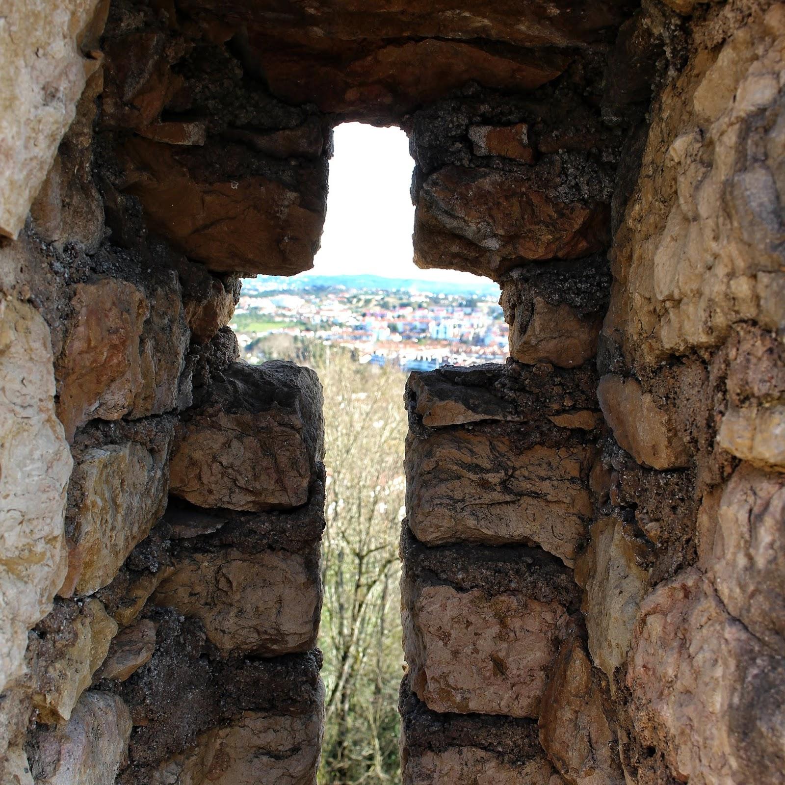 Vista sobre a cidade de Tomar no Convento de Cristo