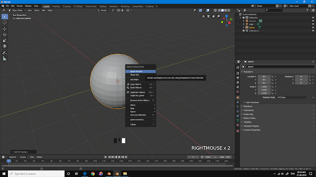 Shade Smooth in Blender 2.8