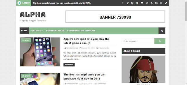 Alpha Blogger Template 2021 | SEO Friendly Free blogger templates