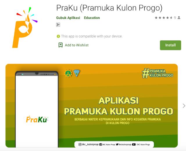 Unduh Aplikasi Praku, Aplikasi Pramuka Kulon Progo