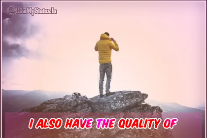 I also have the quality | English Status Image