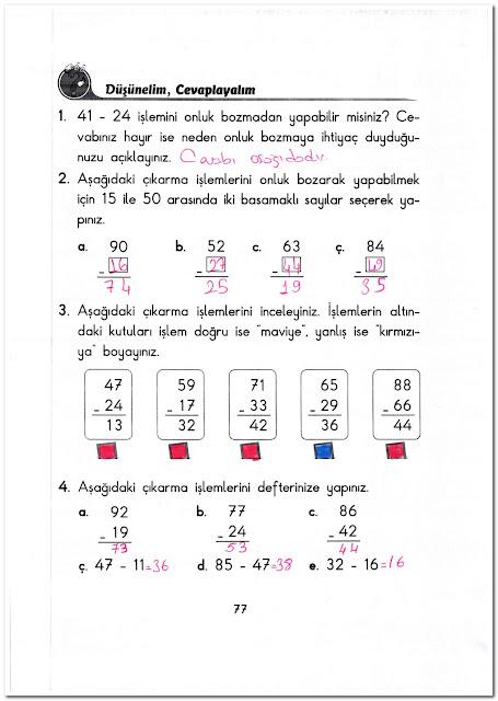 2. Sınıf Başak Yayınları Matematik 77. Sayfa Cevapları
